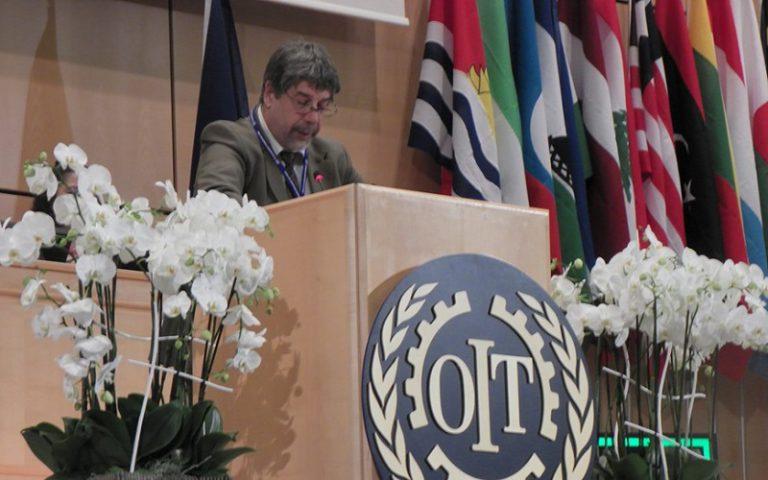 Fernando Gambera en una nueva Conferencia de la OIT