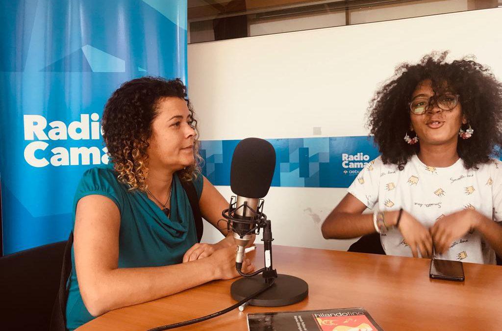 Con Nira Pose y Mikaela Sánchez de Mizangas Mujeres Afrodescendientes