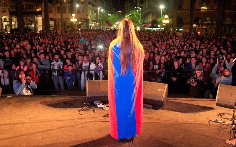Jóvenes Armenios del Uruguay marchan este viernes